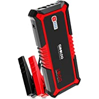 GOOLOO 1500A Peak Car Jump Starter Quick Charge 3.0 Auto Battery Booster Power Pack, Power Delivery 15W USB Type-C Portable Phone Charger with Dual USB, Built-in LED Light and Smart Protect