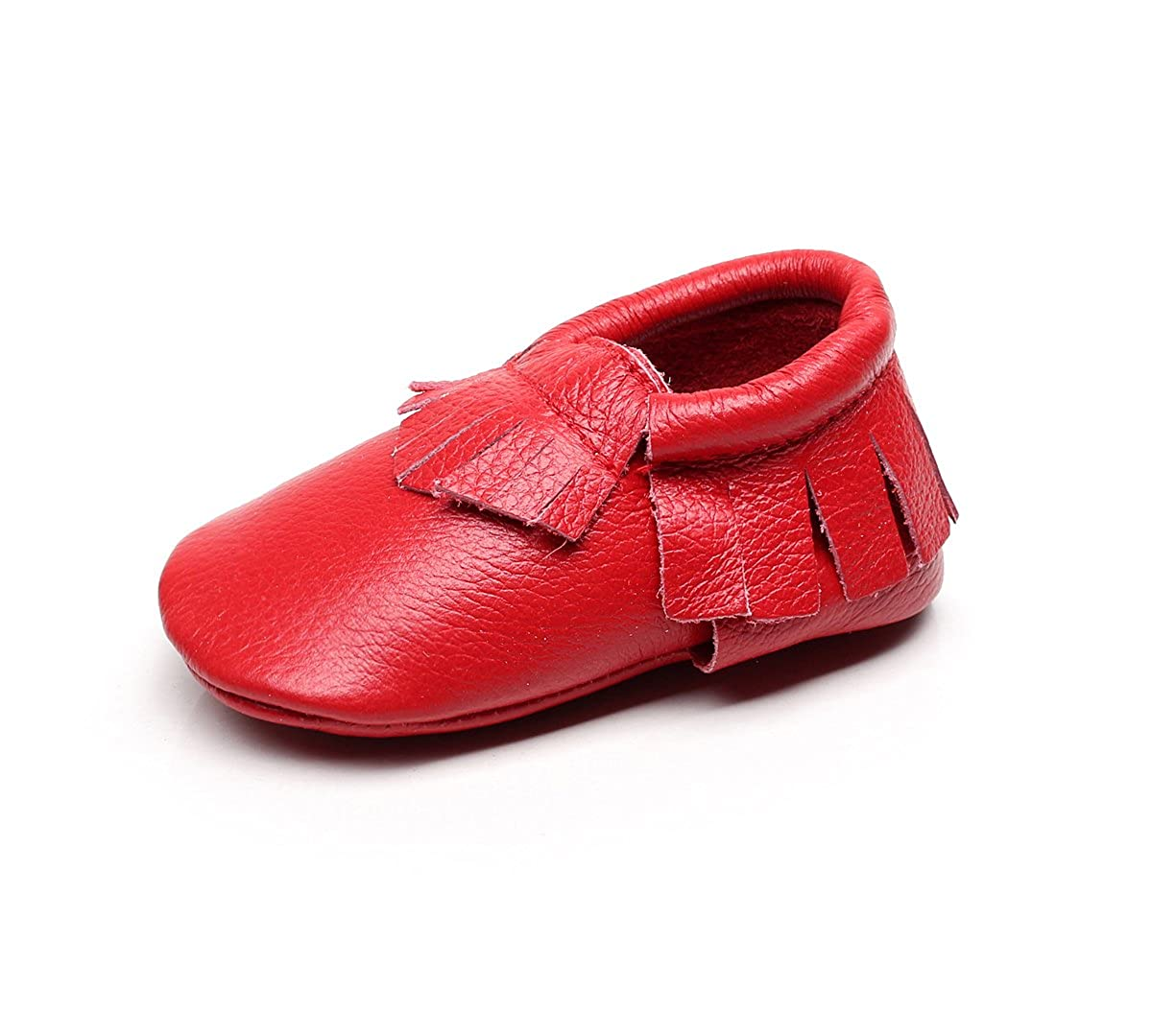 MIGO BABY Moccasins - Soft Genuine Leather Sole Baby Shoes and Toddler Moccasins for Boys and Girls