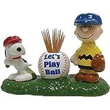 Westland Giftware Let's Play Ball Magnetic Ceramic Salt & Pepper Shaker and Toothpick Holder Set, Multicolor