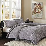 Full Size Bed Comforter Madison Park Norfolk Full/Queen Size Bed Comforter Set - Grey, Paisley – 3 Pieces Bedding Sets – Plush Bedroom Comforters