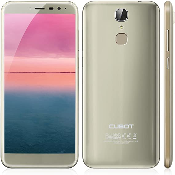 CUBOT X18 - Pantalla HD de 5.7 Pulgadas (Relación de Aspecto 18: 9) Ultra-Slim Android 7.0 /4G Smartphone, 13MP + 16MP Cámara Dual, Quad Core 3GB RAM +32GB ROM, 3200mAh -Oro: Amazon.es: Electrónica