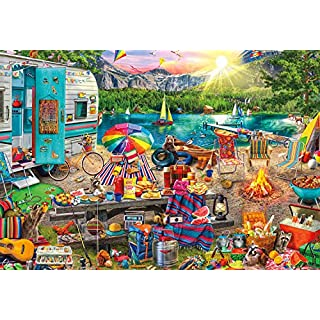 Buffalo Games - Aimee Stewart - Family Campsite - 2000 Piece Jigsaw Puzzle, Multicolor