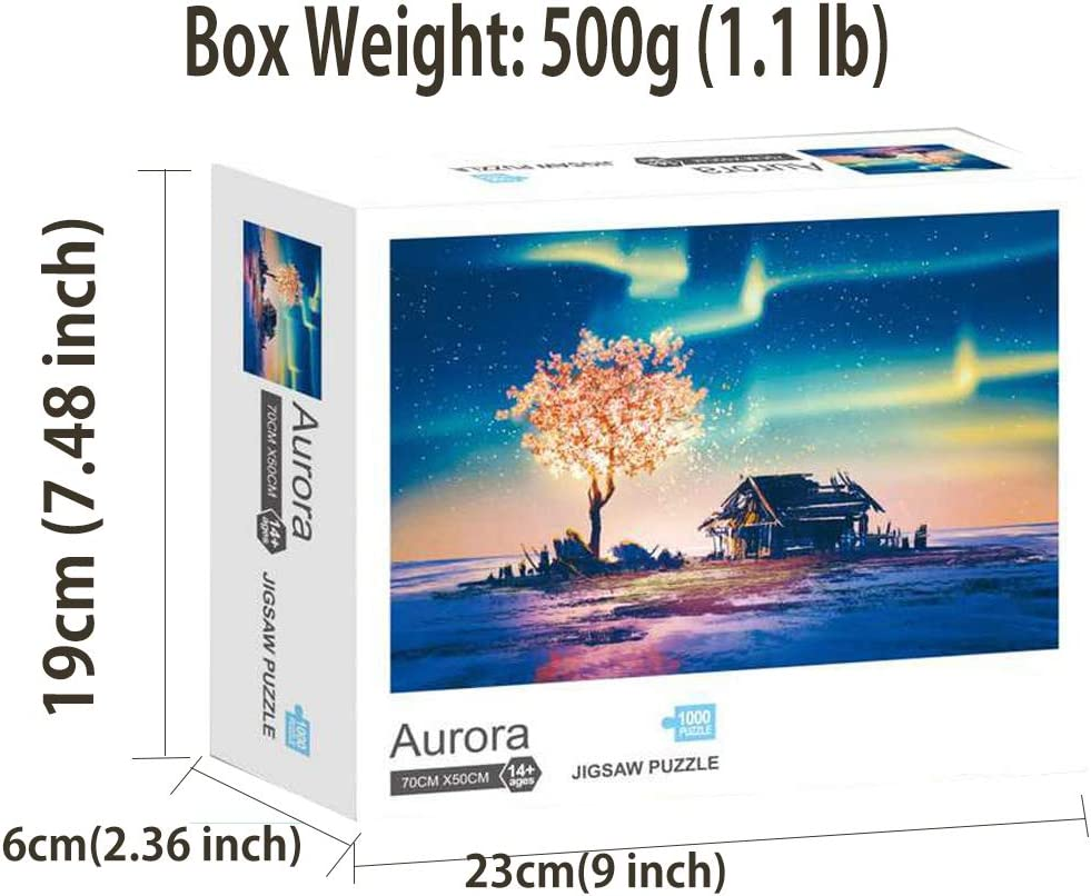 Aurora Jigsaw Puzzle 1000 Pieces for Adults Board Games for Adults and Family Games for Adults 50cm70cm