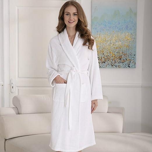 c94550633e Amazon is offering the COMHO 2 Set Bathrobe 100% Cotton Soft Sleepwear For  Men Women Hotel Spa Kimono Robe for  25.99 –  10.40 with promo code  SWSK2FD4 ...