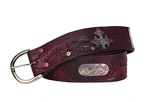 Deluxe Adult Costumes - Medieval outlaw wide leather belt Renaissance Faire costume accessory by Museum Replicas