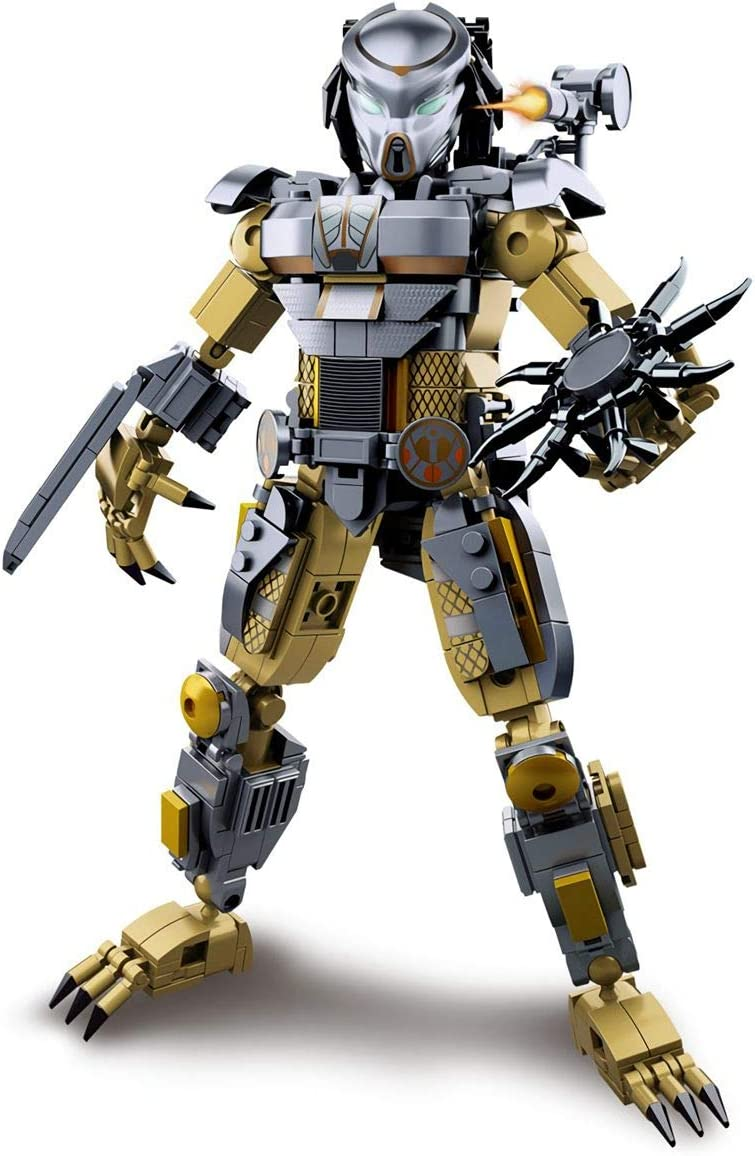 LionMoc Moc Creator Mech - 'The Predator' DIY Mecha Building Block Bricks Machine Toy Compatible with Lego Building Set (The Predator)