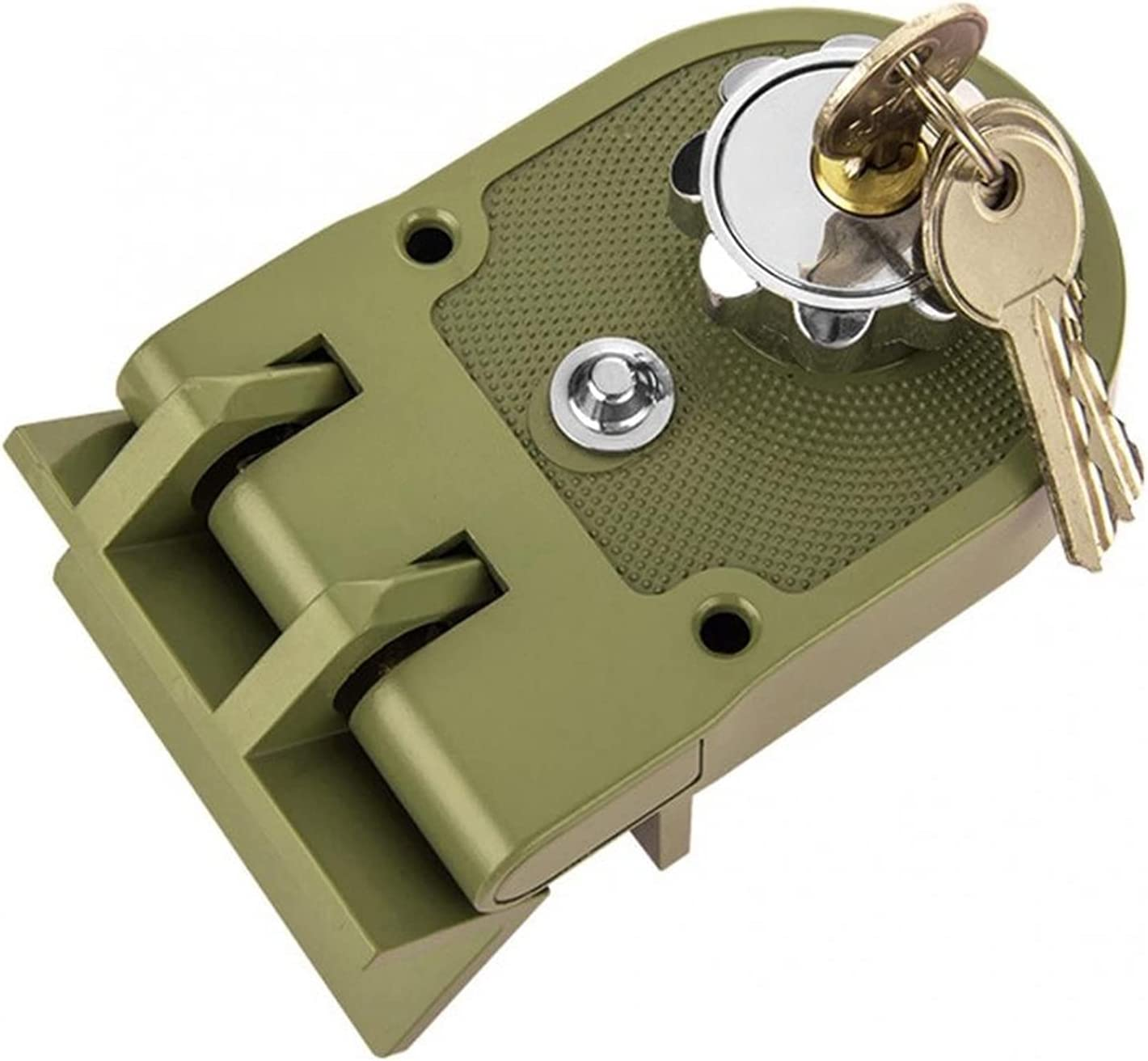 YYDMBH Lock Cylinders Zinc Alloy Durable Mechanical Sliding Door Lock Home Security Anti-Theft Jimmy-Proof Lock Half/Full/Reverse/Full Open Functions (Color : Right Open)