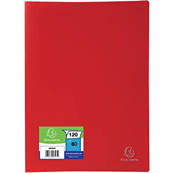 Exacompta 8565e Porte Vues En Polypro Format A4 120 Vues Rouge