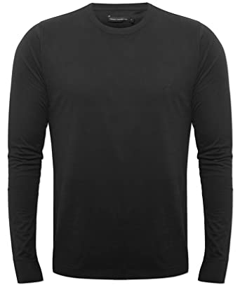 fe547d2a13fbc New French Connection Mens Black 56PDI Long Sleeved Designer T-Shirt FCUK  Black XX-Large  Amazon.co.uk  Clothing