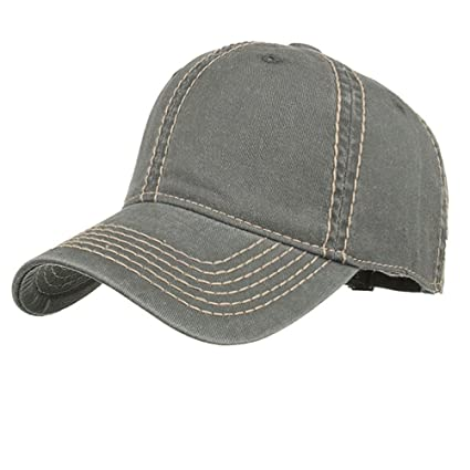 0d10afe2bb6 Amazon.com  Botrong Fashion Women Men Adjustable Washed Solid Color  Baseball Hat Casual Cap Shade (Black)  Arts