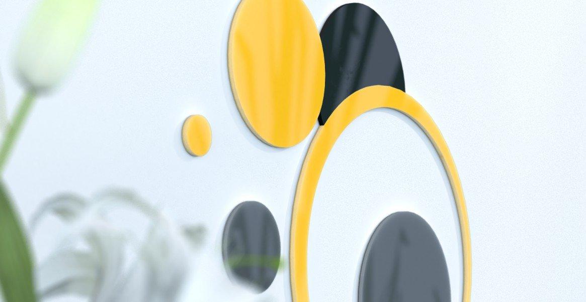Deko Wand-Wohnzimmer originelle Blaue Ente und grau silber rot   schwarz   grau foncÃeacute; Gelb   grau foncà   schwarz