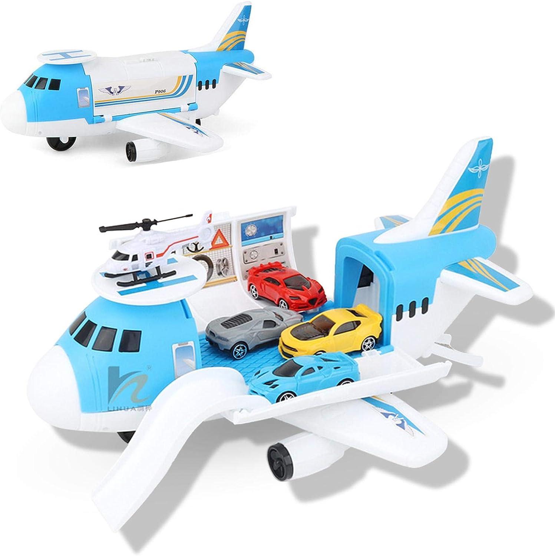 Spielzeug Spielset Transport Spiel Auto Spielzeug Flugzeug Spielzeug Auto Spielzeug Set F/ür 3-6 Jahre Alt Kinder Kinder Jungen M/ädchen Flugzeug Spielzeug Geschenk