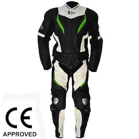Moto Racing Traje de Piel de 2 piezas (desmontable) con CE ...