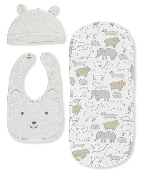 640080b65c7a Amazon.com  Carter s Baby 3 Piece Hat And Bib Set  Clothing