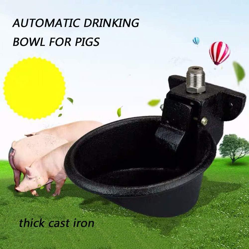 WHR-HARP Bebedero Automatico de Hierro Fundido Cuenco de Agua, Cuenco para Beber de Ganado para Gato Oveja Perro Caballo Granja Suministros