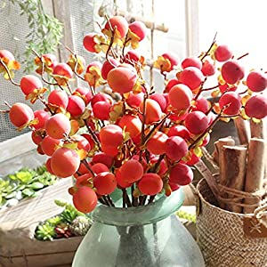 Flower ,YJYdada Fake Artificial Rose Fruit Peach Berries Bouquet Floral Berry Garden Home Decor 40