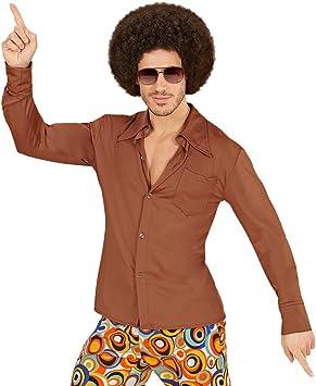 shoperama Retro de los años Setenta Camisa con y sin Costura Disco Hombre Disfraz Colador ziger Schlager: Amazon.es: Juguetes y juegos