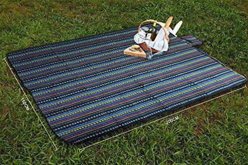 61 O9Qt4XAL Extsud Outdoor Camping Picknick Matte Feuchtigkeit Pad Ethnische Art Tragbare Picknick Decke Wasserdicht Campingdecke…