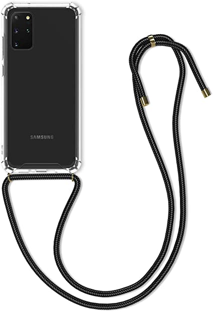 AROYI Crossbody Case for Samsung Galaxy S20 Lite Clear Transparent TPU Silicone Case for Samsung S20 Lite Necklace Phone Cover with Adjustable Lanyard Cord 360 Degree Shockproof Phone Case