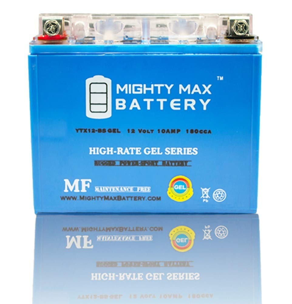 Suzuki Kawasaki Mighty Max YTX12-BS GEL Battery for Honda 12V 2Amp Charger