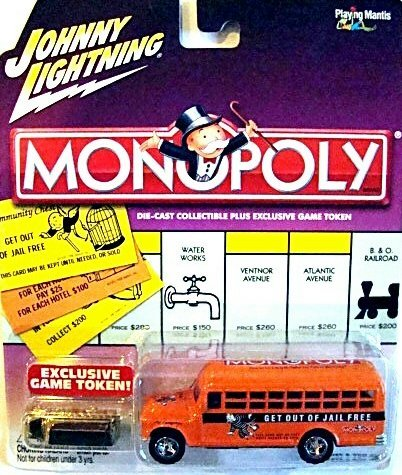 Johnny Lightning Monopoly Get Out of Jail Free '56 Chevy Bus (Monopoly 56)