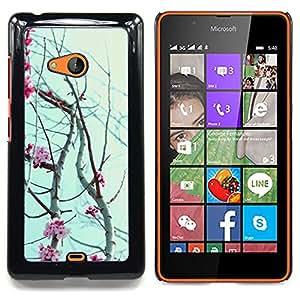 For Nokia Lumia 540 Case , Pétalos de las flores cerezo floreciente - Diseño Patrón Teléfono Caso Cubierta Case Bumper Duro Protección Case Cover Funda