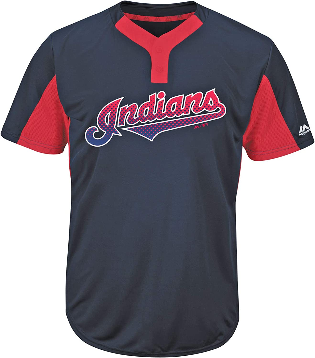Majestic Cleveland Indians Premier Eagle Cool Base Youth 2-Button Jersey