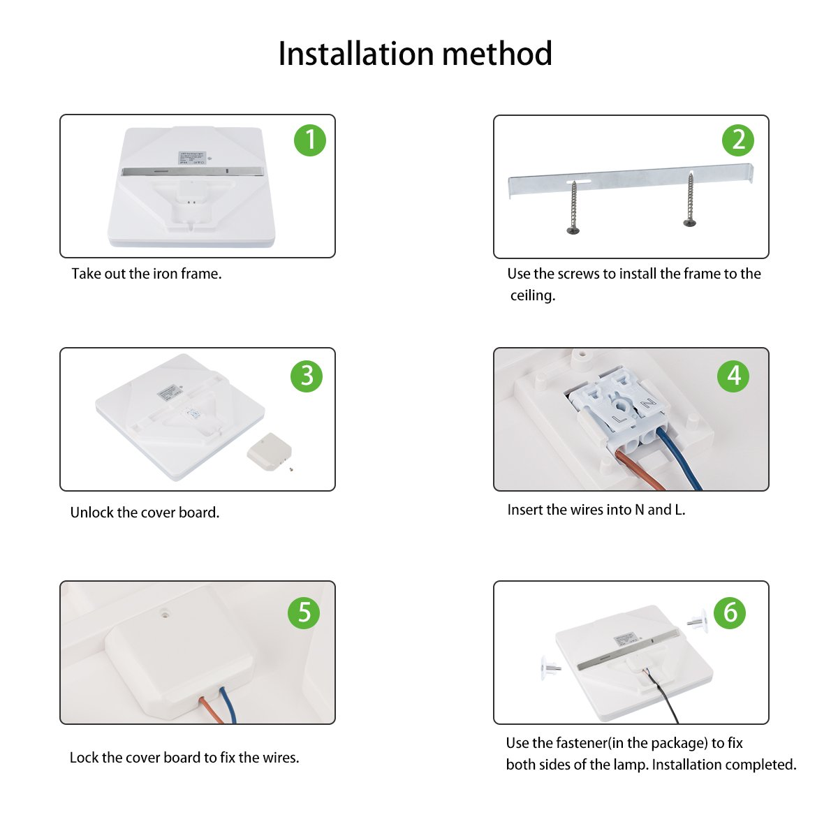 Led Ceiling Lights Flush Mount Square 5000k Daylight Cold White Basement Bathroom Wiring Diagram Before Installing The Vanity Light Airand 24w Waterproof Ip44 2050 Lumens 126in Lamps For Kitchen Bedroom