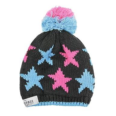 Children Stars Beanie Hat Boys Girls Winter Knitting Pattern Hats Kids  Thick Caps with Bobble Pom Pom Head Wear Warm Unicorn Snowboard Skiing  Running ... cdb6484fd14