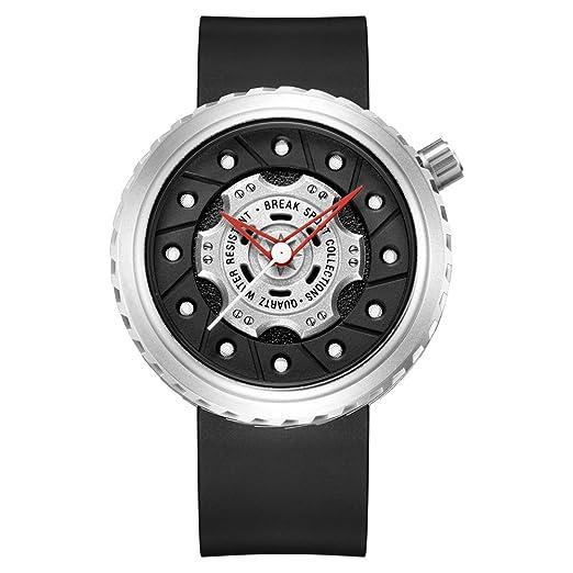 BREAK Reloj de Moda para Hombres, Reloj de Pulsera de Cuarzo único, Diseño de
