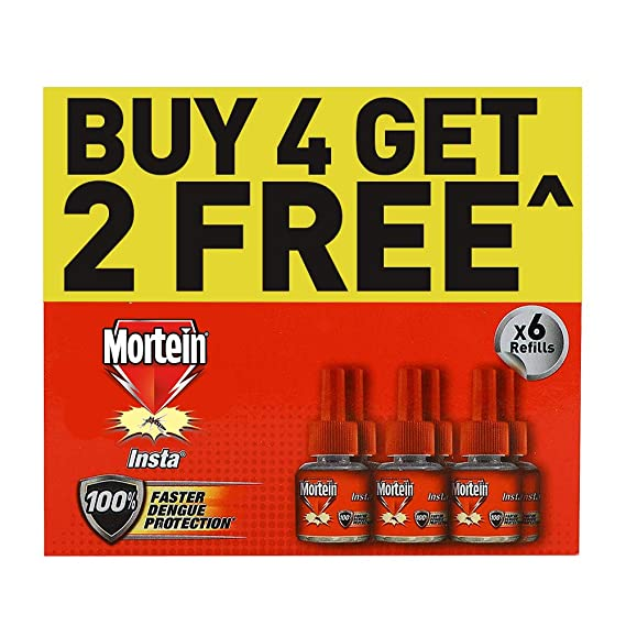 Mortein Mosquito Killer Liquid Vaporizer Refill - Buy 4, Get 2 Free Pack