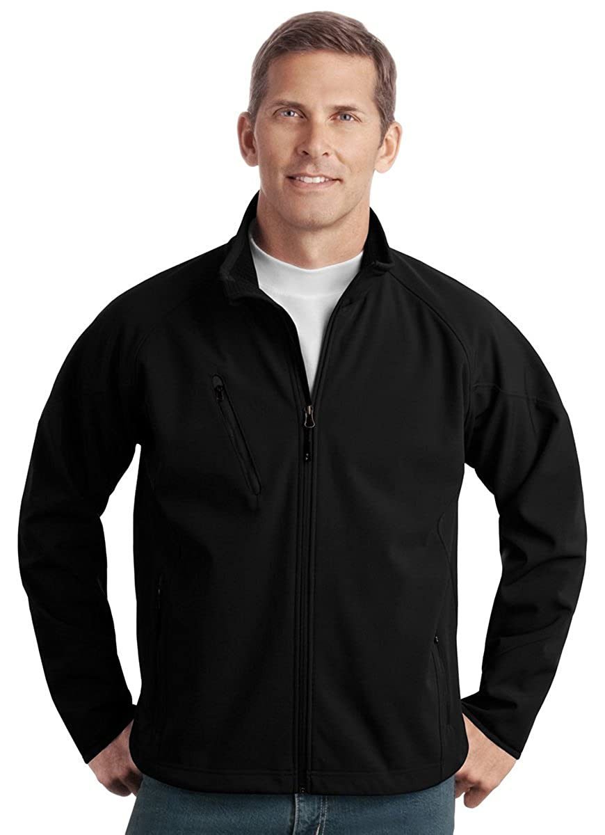 Black J705 L Port Authority Textured Soft Shell Jacket