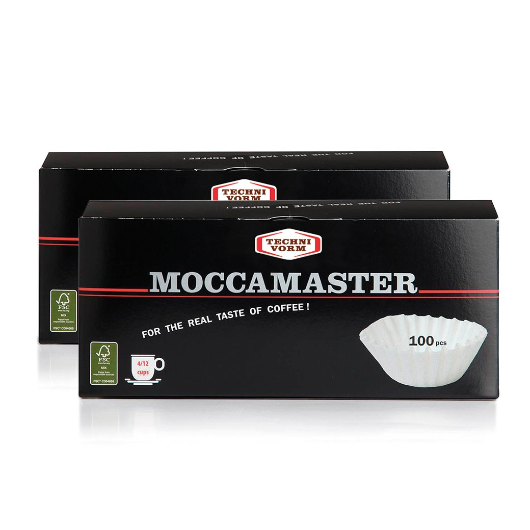 Technivorm Moccamaster 85025 Moccamaster Filters Flat Bottom Paper Grand Brewers-100 Ct, One Size (2)