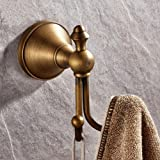 LightInthebox Novelty Design Antique Brass Finish Wall-mounted Robe Hook, Bathroom and Kitchen Accessories. Double Hook