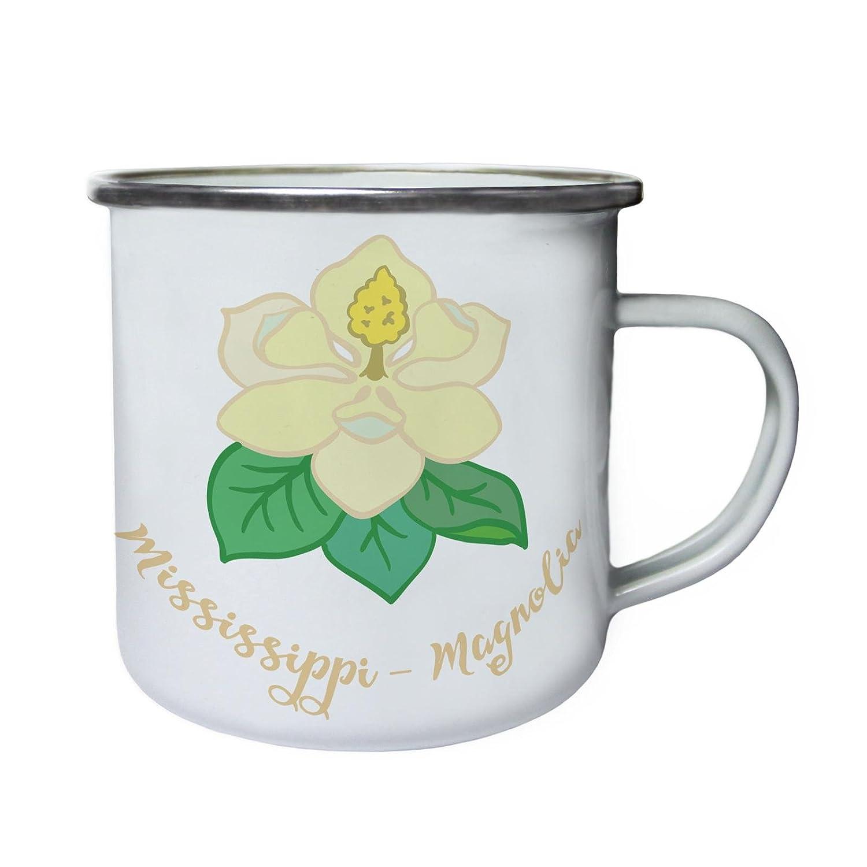 ミシシッピMagnoliaレトロ、Tin、エナメル10ozマグn383e   B0749JKM8R