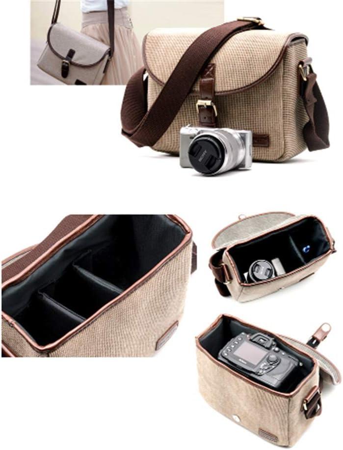 Color : Green, Size : 25x18x12cm DQJKL Camera Backpack Casual SLR Camera Bag Messenger Bag One Camera 1 Mirror 2 Mirror Photography Backpack Camera Bag