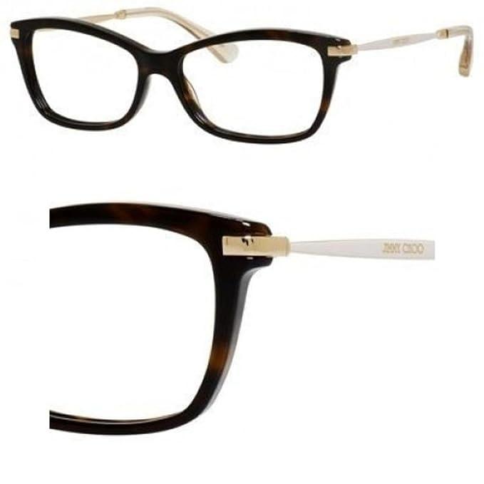 f6713871b974 Amazon.com: JIMMY CHOO Eyeglasses 96 07VI Dark Havana Ivory Gold 52MM: Shoes