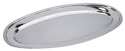 Equinox 502735 - Bandeja ovalada para pescado, inox