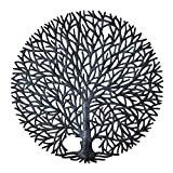 Tree of Life Wall Art, Tranquility Nature Inspired Tree, Handmade in Haiti, Fair Trade, Decorative Wall Hanging Indoor or Outdoor 23″ Round