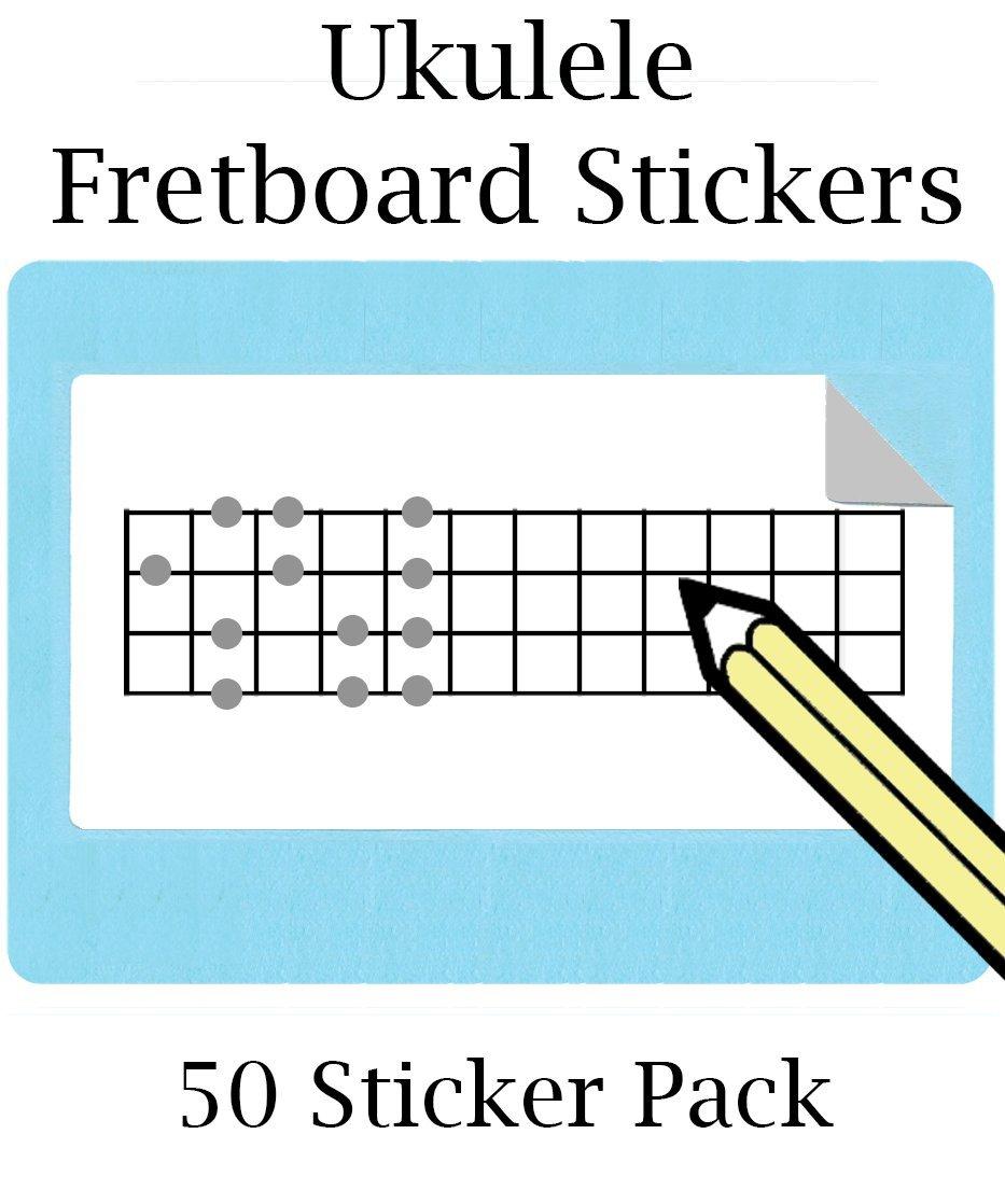Large Ukulele Fretboard Stickers 50 Pack 12 Frets Ukelele Uke Diagram Free Shipping At Checkout Musical Instruments