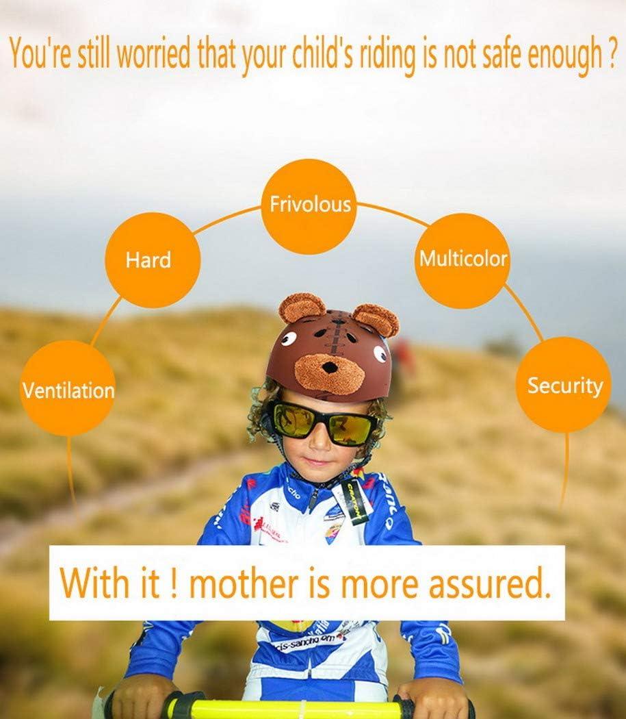 Premewish Casque V/élo Enfant 3-12 Ans Animal /Équipement Cyclisme Protection Poids L/éger