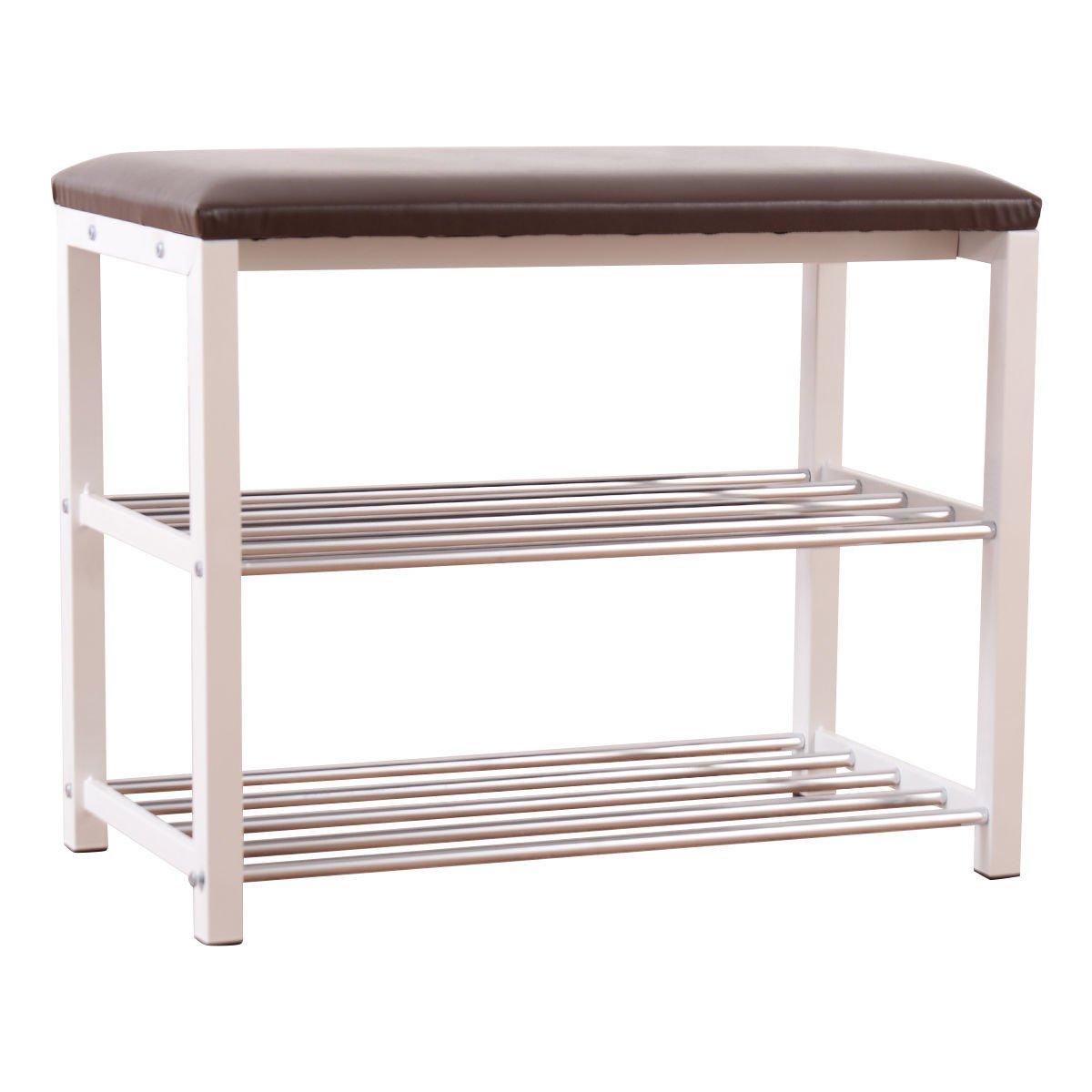 Shoe storage 3 level Storage Shoe Rack Bench Seat Organizer tier Shelf Home Dorm Entryway