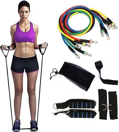 Adatta per Sport Maschili e Femminili Pilates Yoga Phiraggit Tuta con Fascia di Resistenza Inclusa Custodia con Cinturino per Manico e Fascia Elastica per Ancoraggio alla Porta