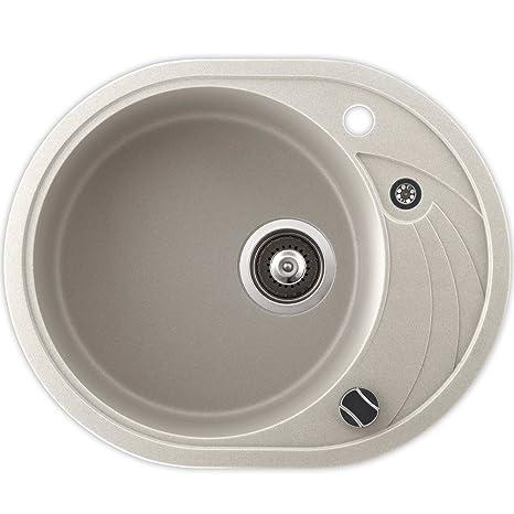 Lavello cucina in granito montaggio tondo lavello rotella piccolo ...