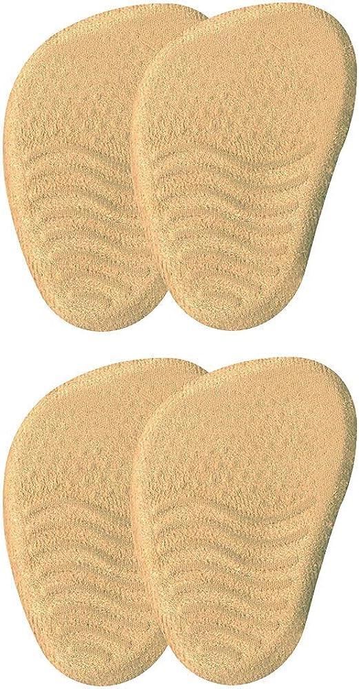 VITAL FOOT - Media Plantilla Gel Piel Zapatos Tacón Dolor Metatarso - 2 Pares