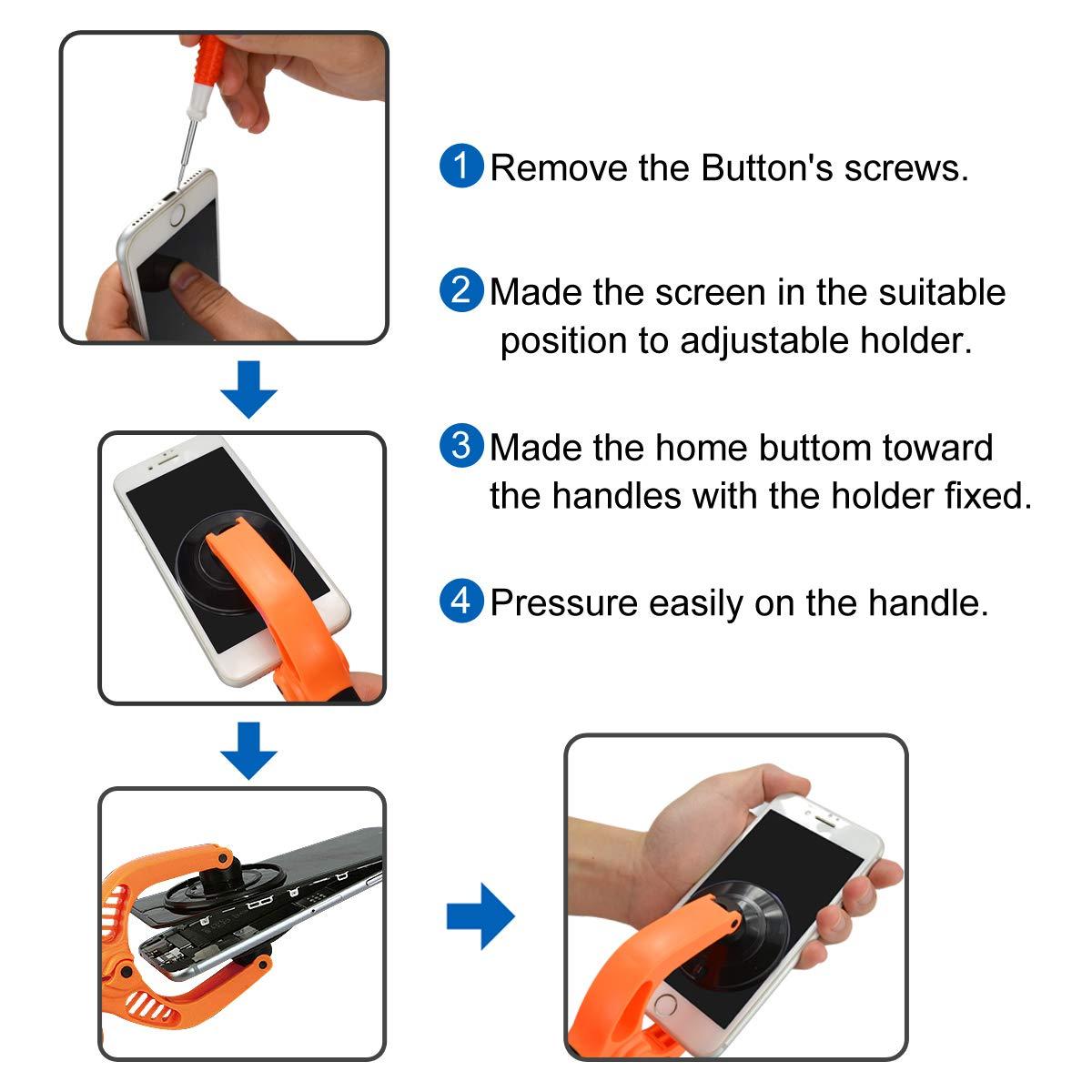 LCD apertura alicates, beonfu pantalla LCD de apertura alicates herramientas de reparación de teléfono celular con Super fuerte ventosa plataforma para iPad ...