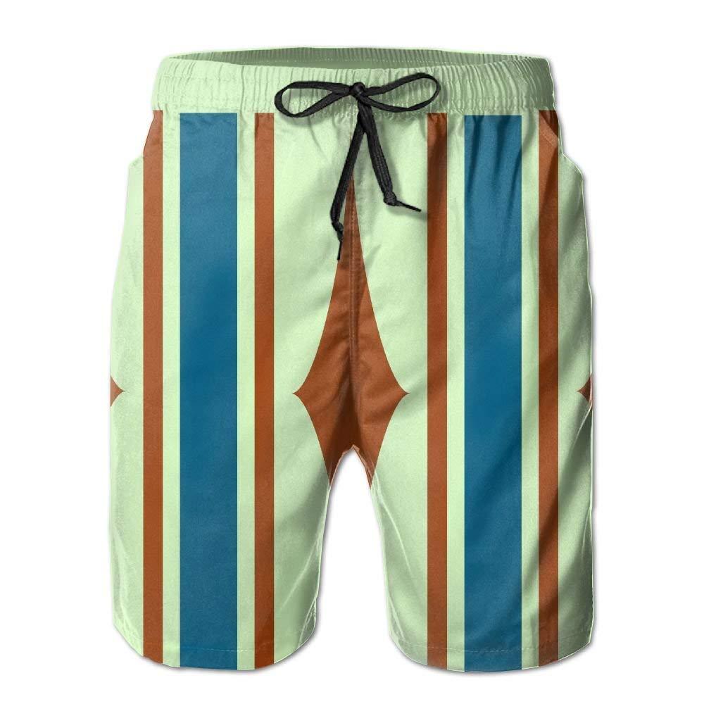 Rhombus Shapes Fit Mens Shorts Beach Swim Trunk Summer