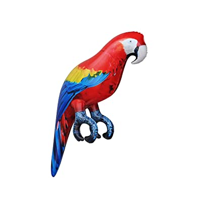 "Jet Creations Parrot Inflatable Pet Scarlet Macaw 24"" Tall for Party Gift Luau Decoration Novelty Prop Jet-Parrot: Toys & Games"