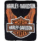 Harley-Davidson Wings Fleece Throw