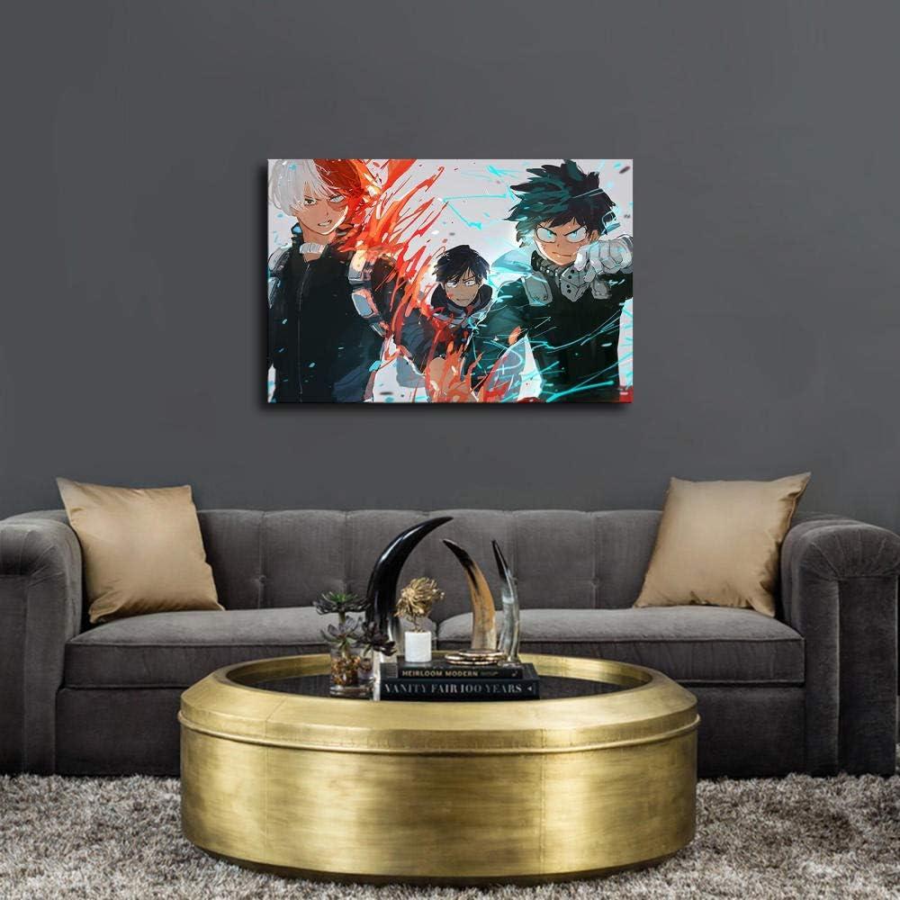 P/óster de My Hero Academia de anime en lienzo para sala de estar decoraci/ón de dormitorio